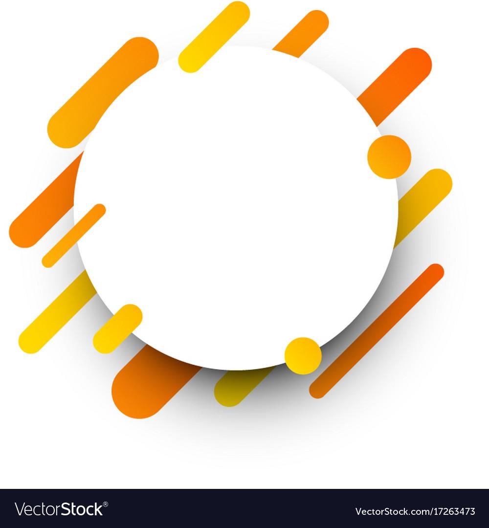 Orange Abstract Background On White