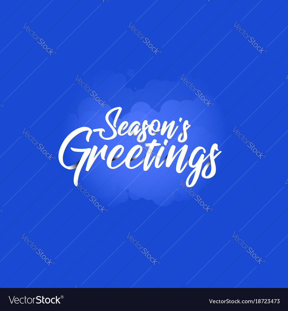 Origami Lettering Of Season S Greetings Royalty Free Vector