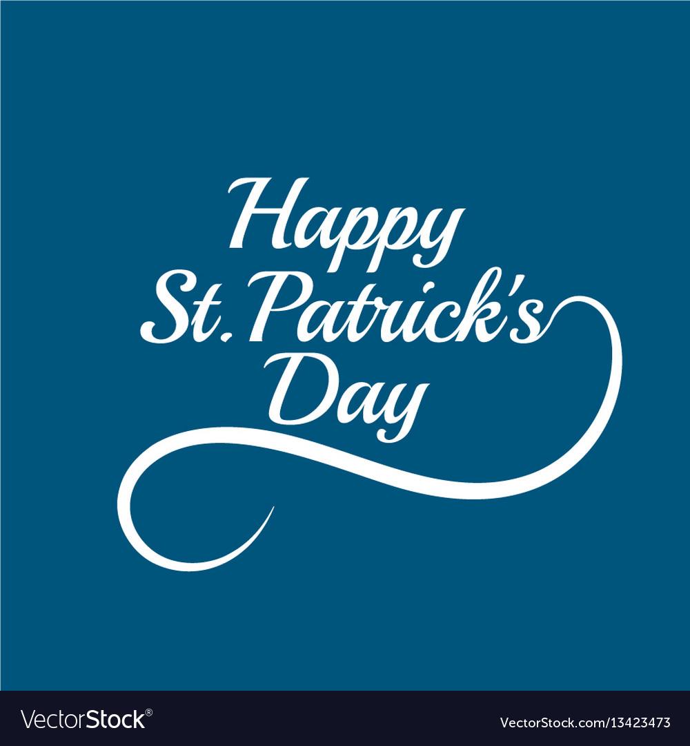 Saint patricks day card design