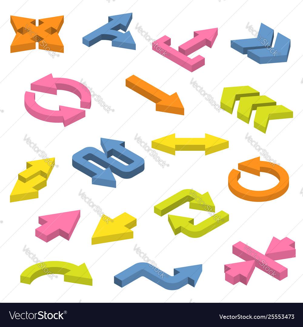 Set isometric arrows