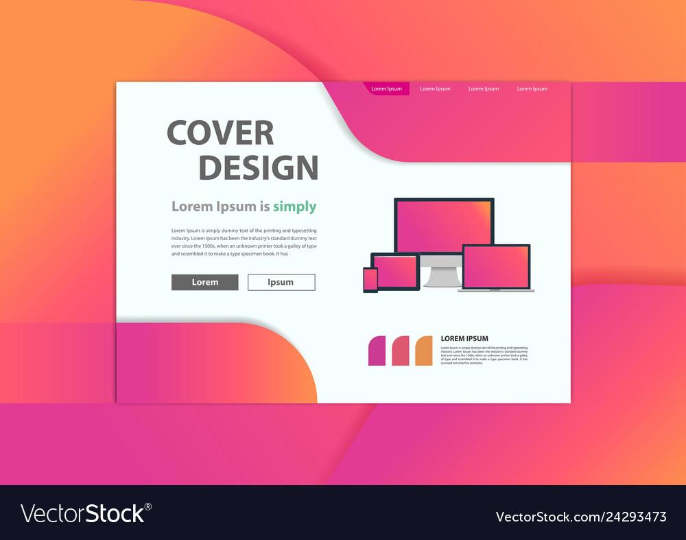 Web development website banner minimal geometric