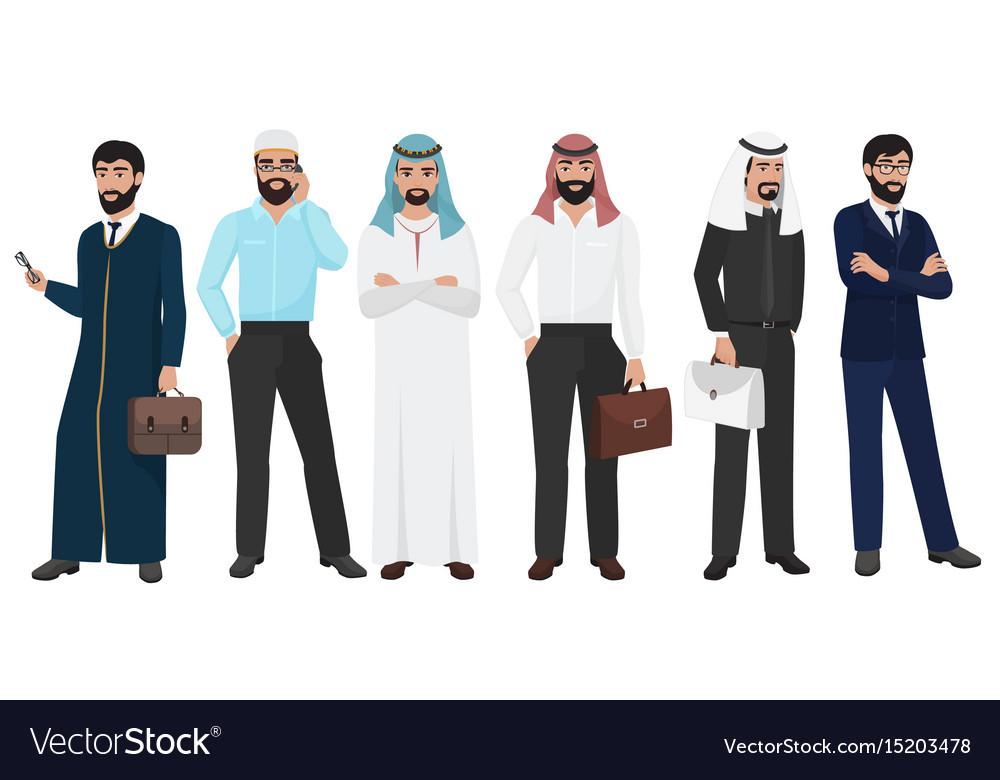 Arabic business man people muslim arab office
