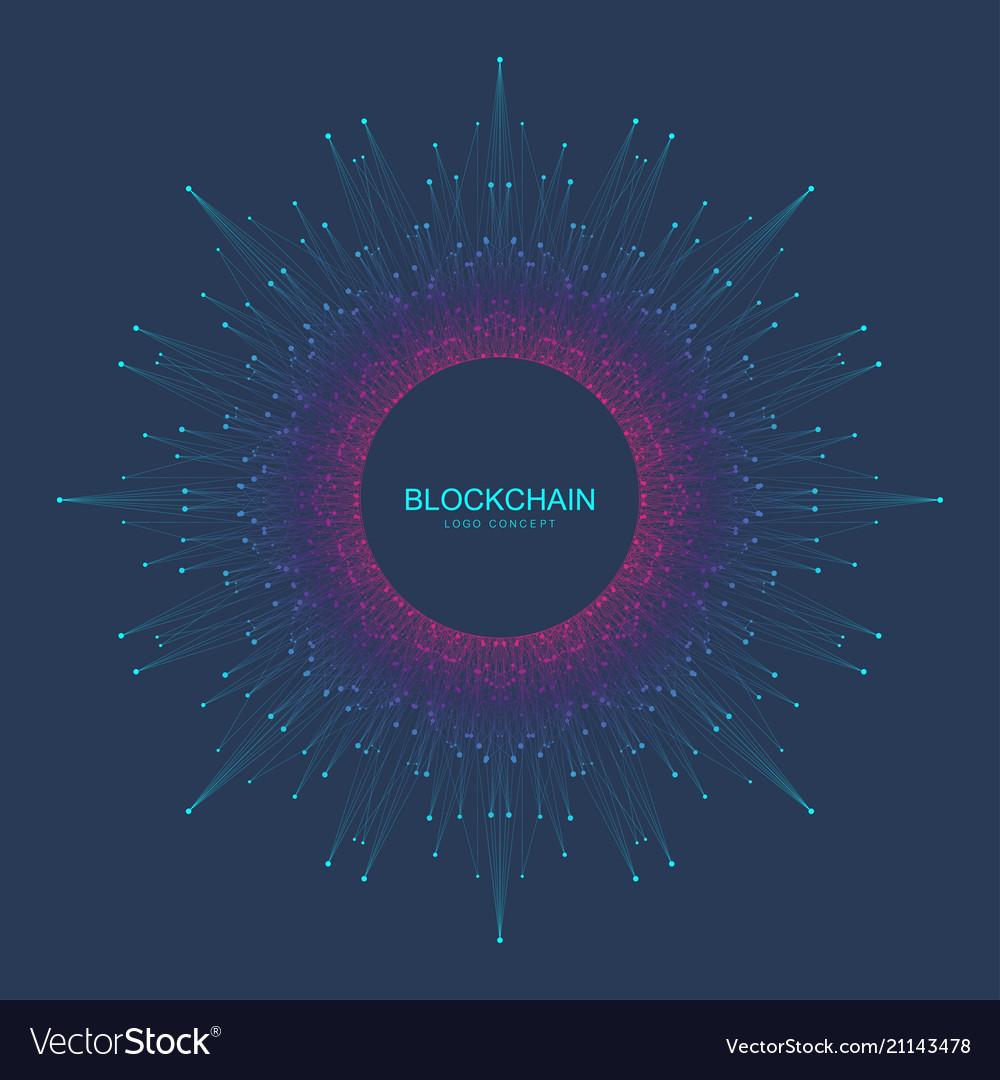 Blockchain logo sign icon concept fractal