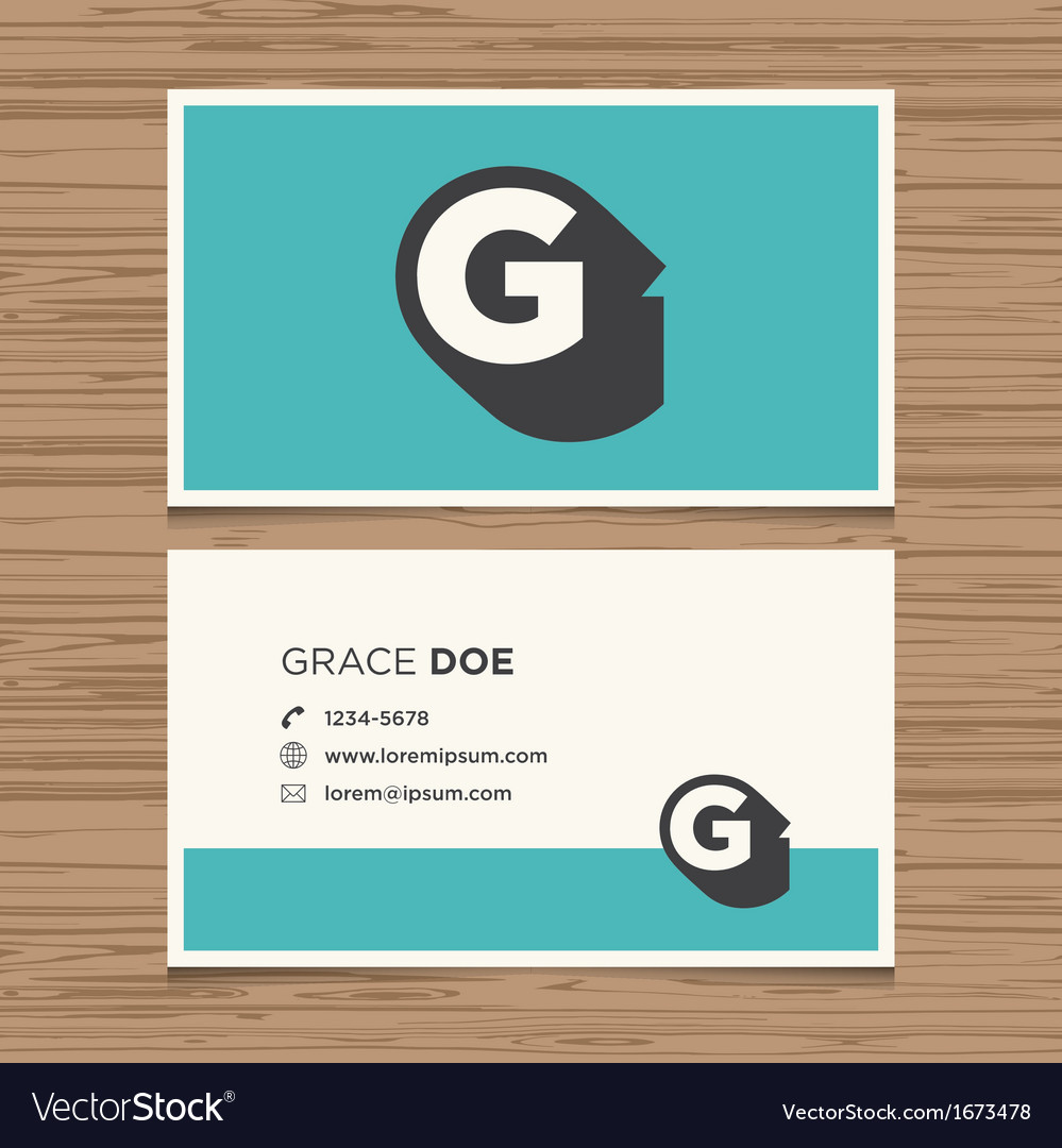 Business card letter g