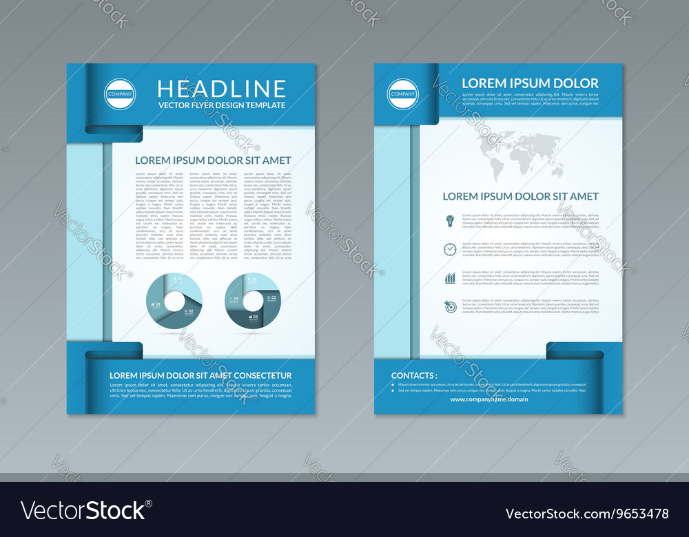 Flyer Brochure Design Template A4 Size Royalty Free Vector
