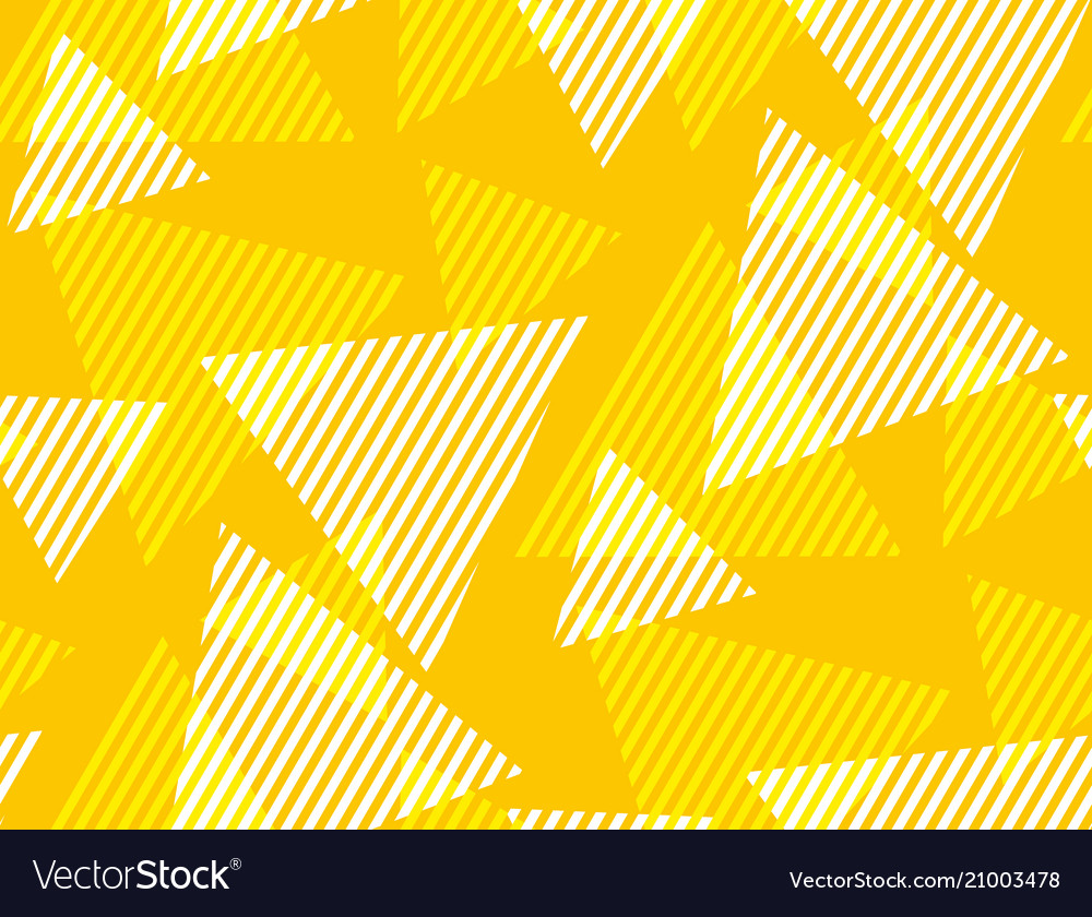 Geometric triangle and stripe seamless pattern