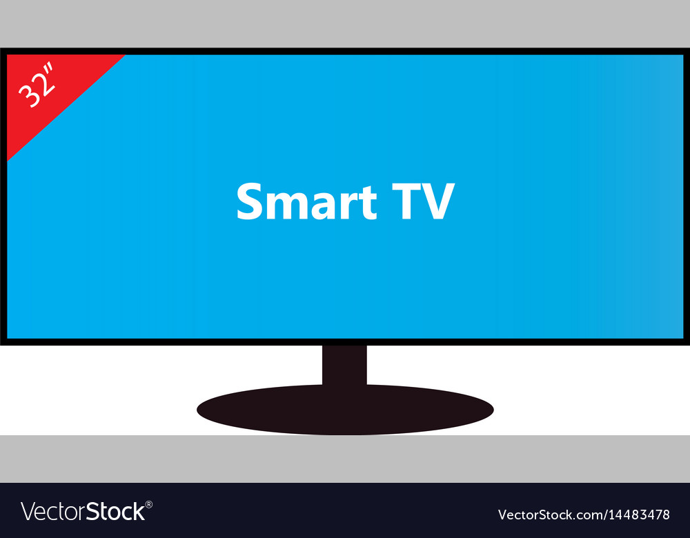 Smart tv-32 inches vector image