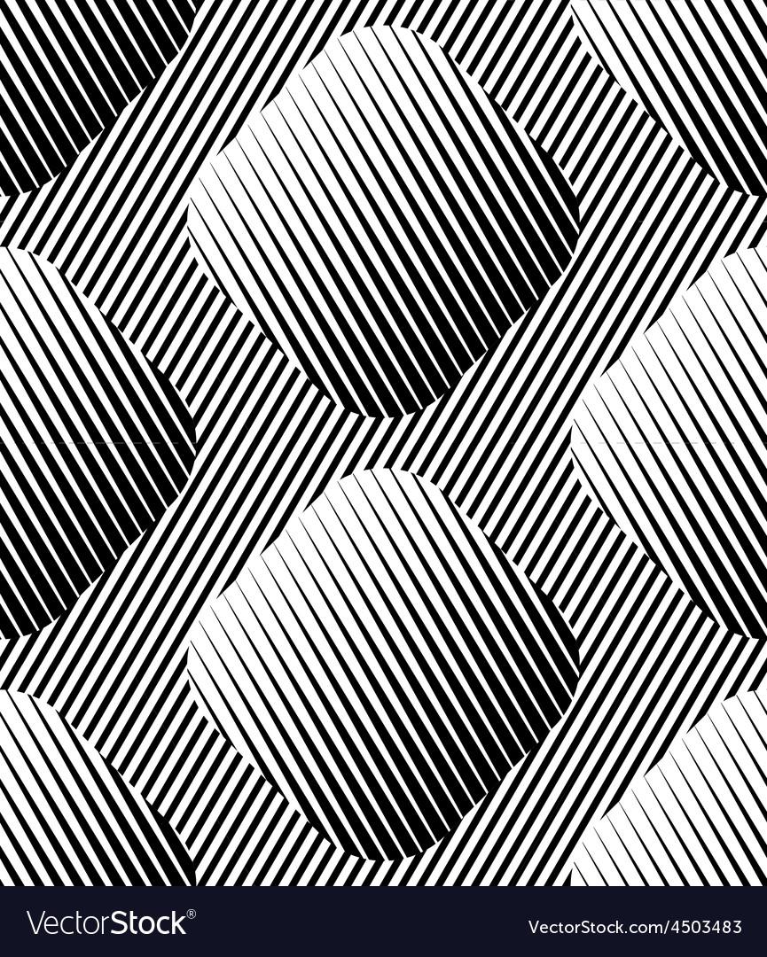 Abstract Striped Rhombuses Geometric Seamless