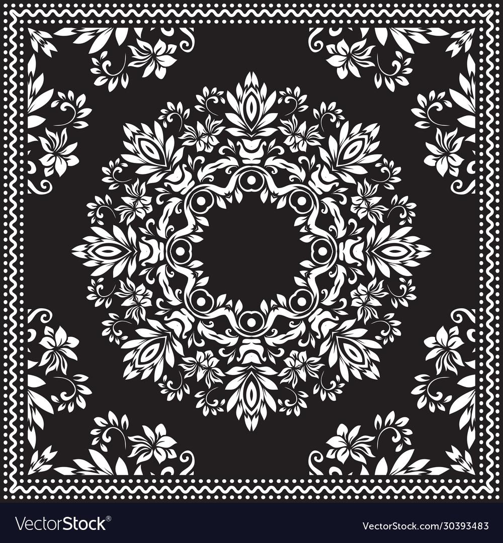 Bandana clipart black and white bandana silk
