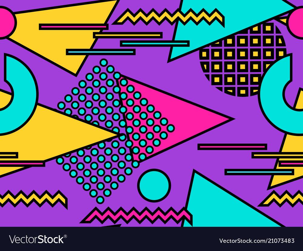 Bauhaus seamless pattern geometric elements