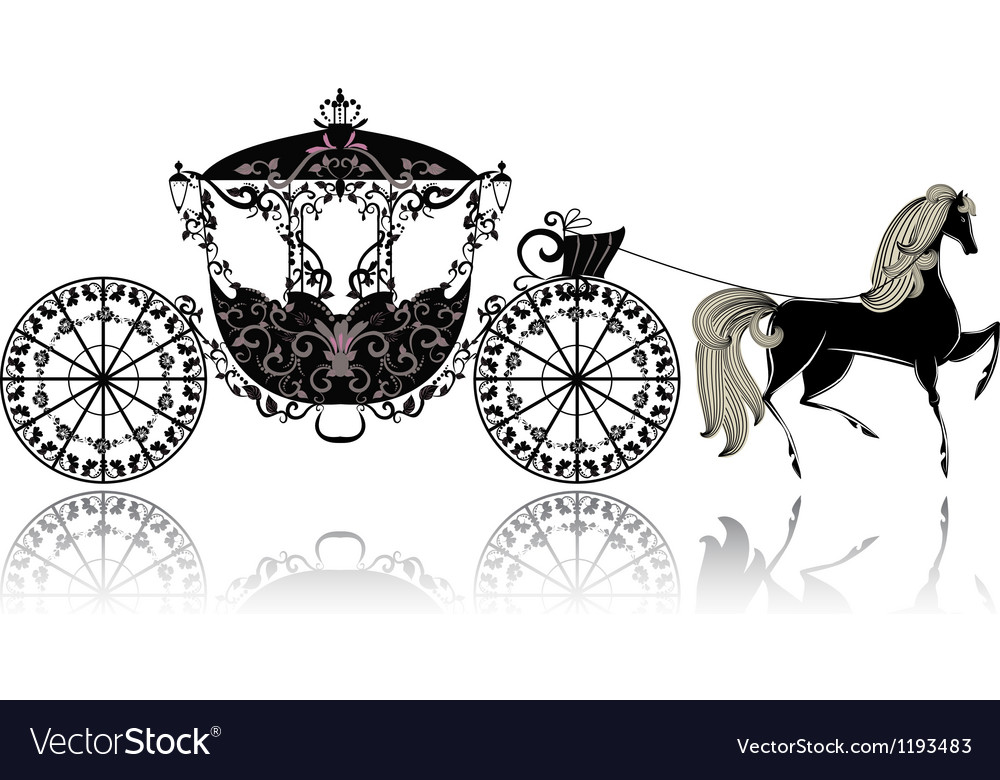 Carriage horse vector image