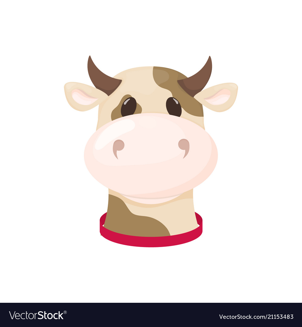 cow farm animal cute cartoon cattle royalty free vector vectorstock