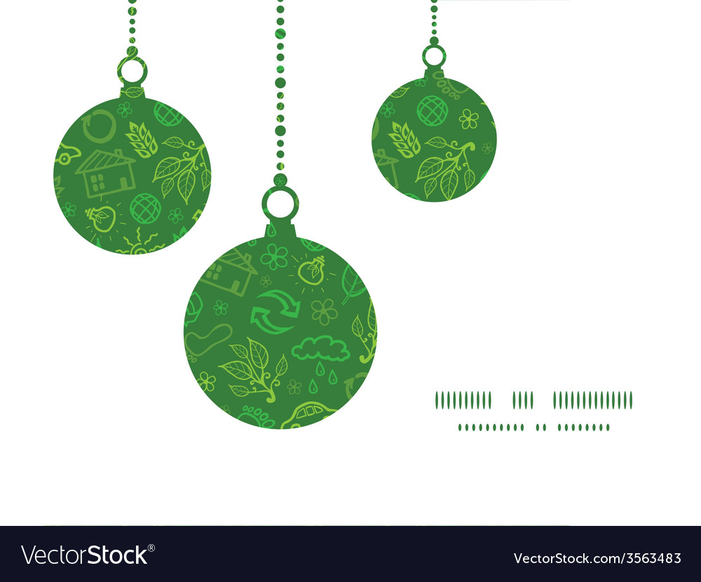 Ecology symbols Christmas ornaments silhouettes Vector Image