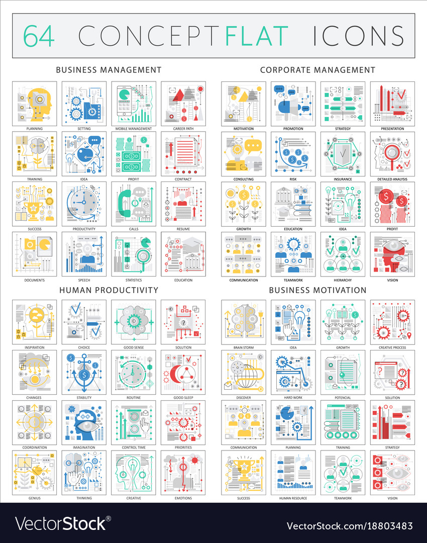 Infographics concept icons of business management