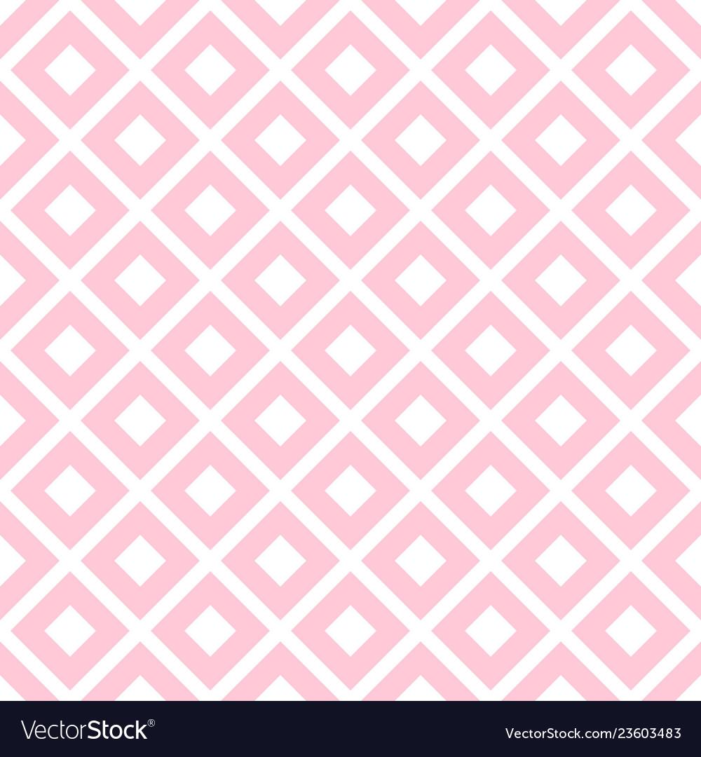 Pink rhombus geometric seamless pattern