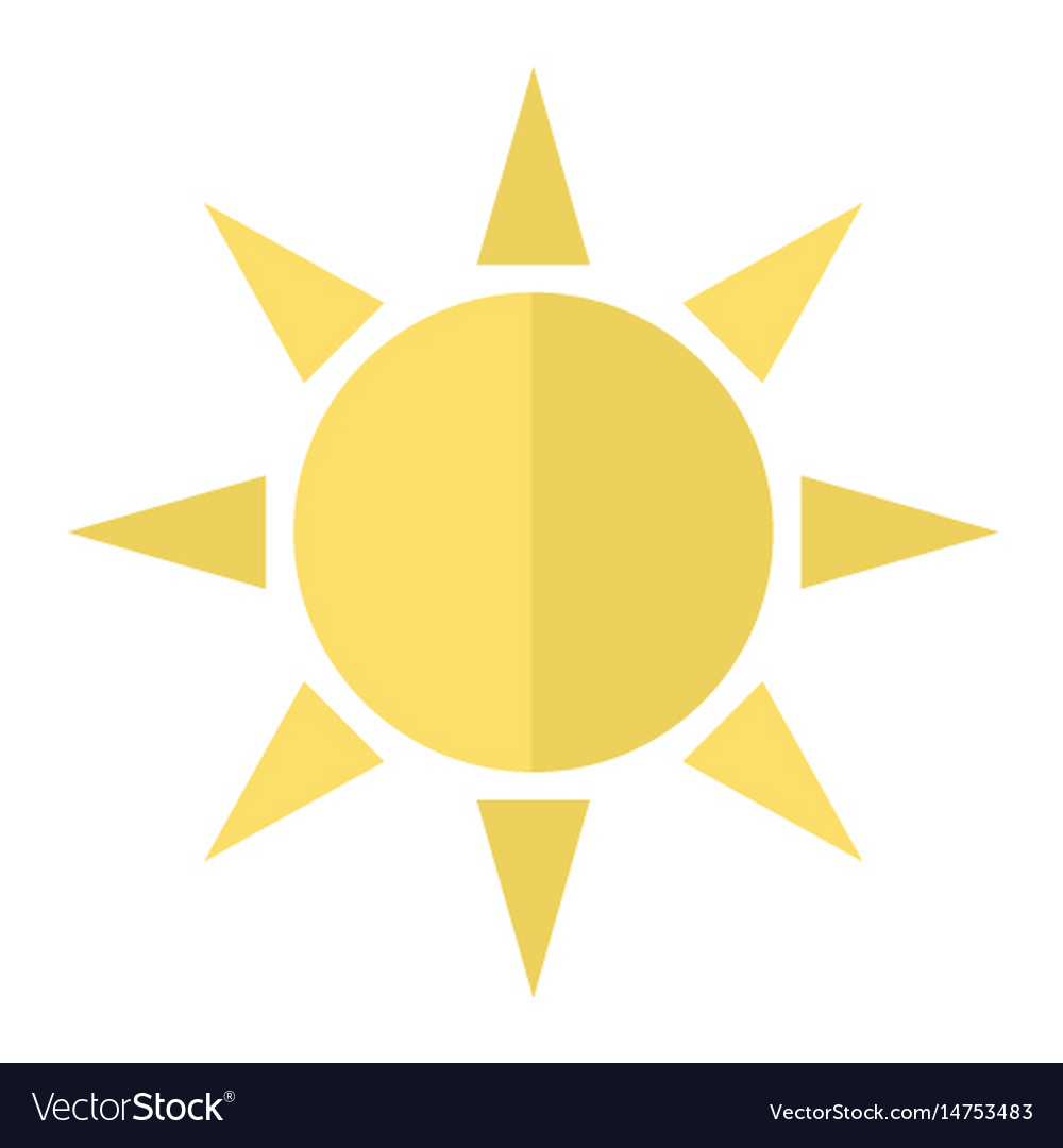 sun flat icon weather and sunshine royalty free vector image rh vectorstock com vector sun rays vector sunset utah