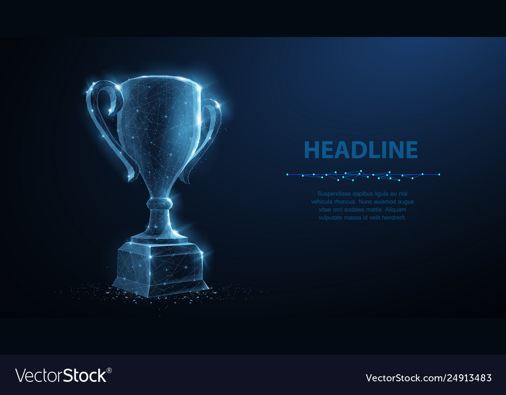 Trophy cup abstract 3d trophy isolated on