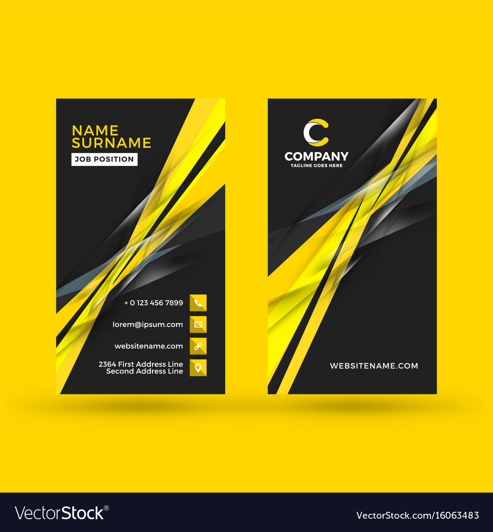 Vertical double sided business card template vector image friedricerecipe Choice Image