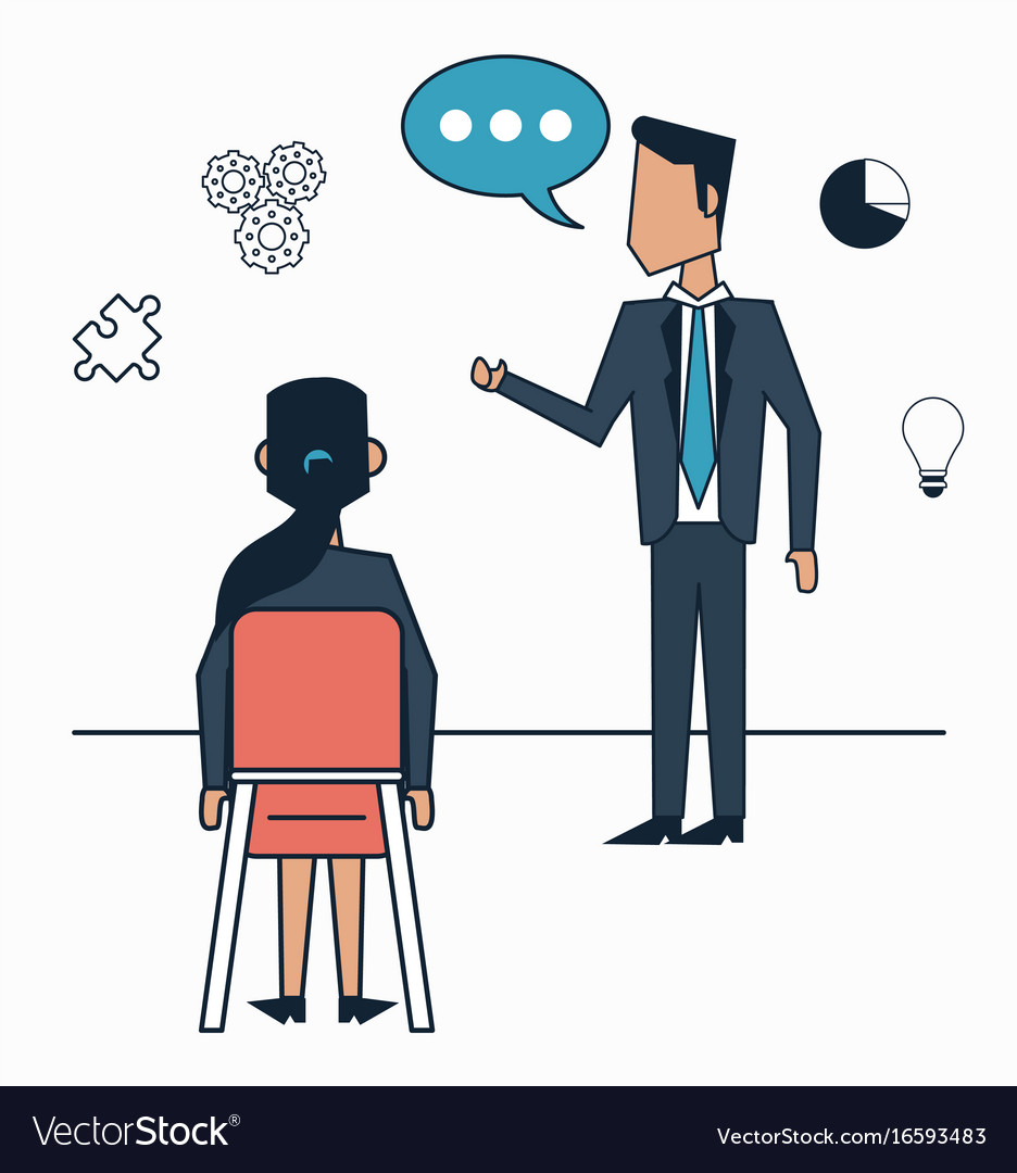 White background with strategy business meeting