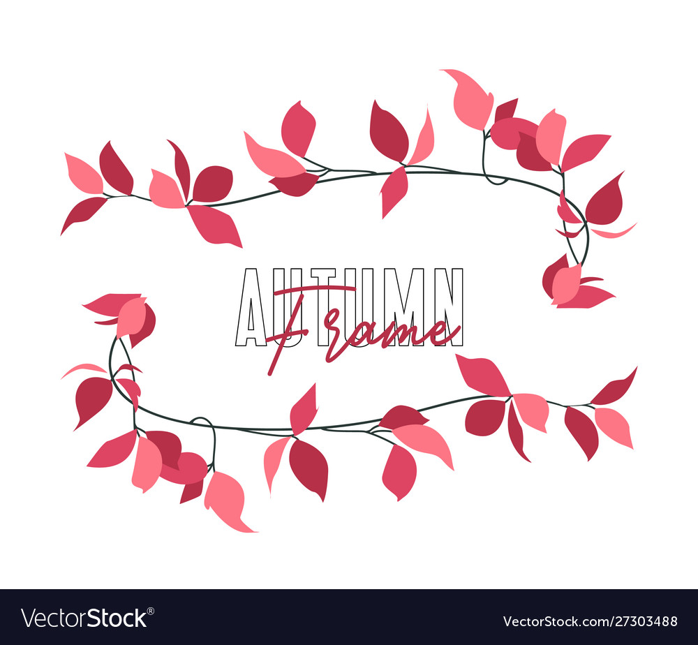 Autumn red leaf vector