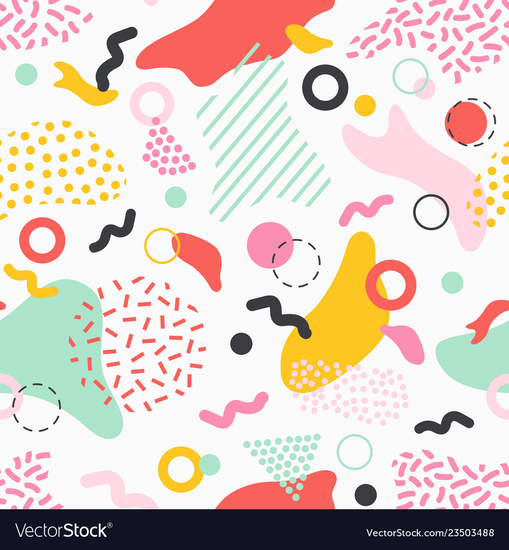 Creative seamless pattern with colorful stains