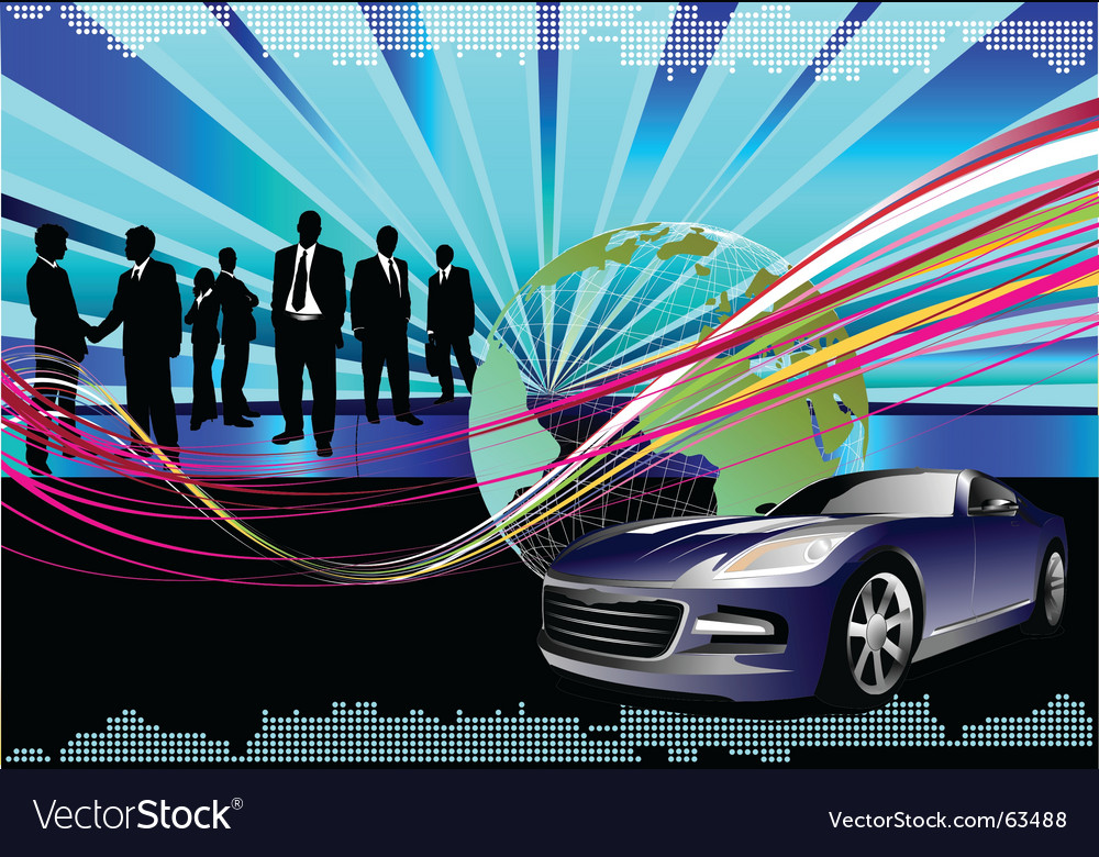Hi tech background vector image