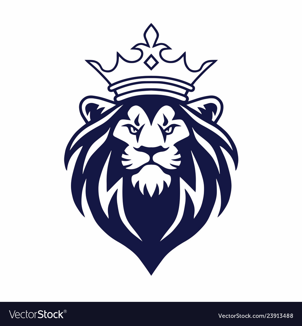 Lion With Crown Logo Design Royalty Free Vector Image A lion wearing a crown beside the castle. vectorstock