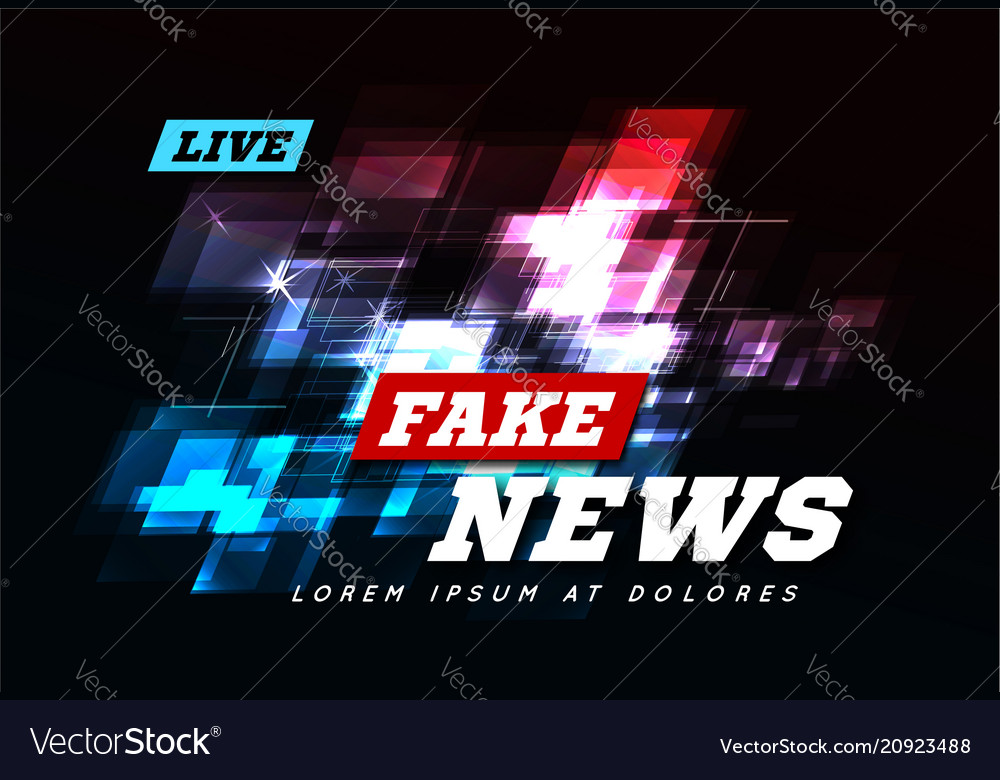 Live fake news can be used as design for