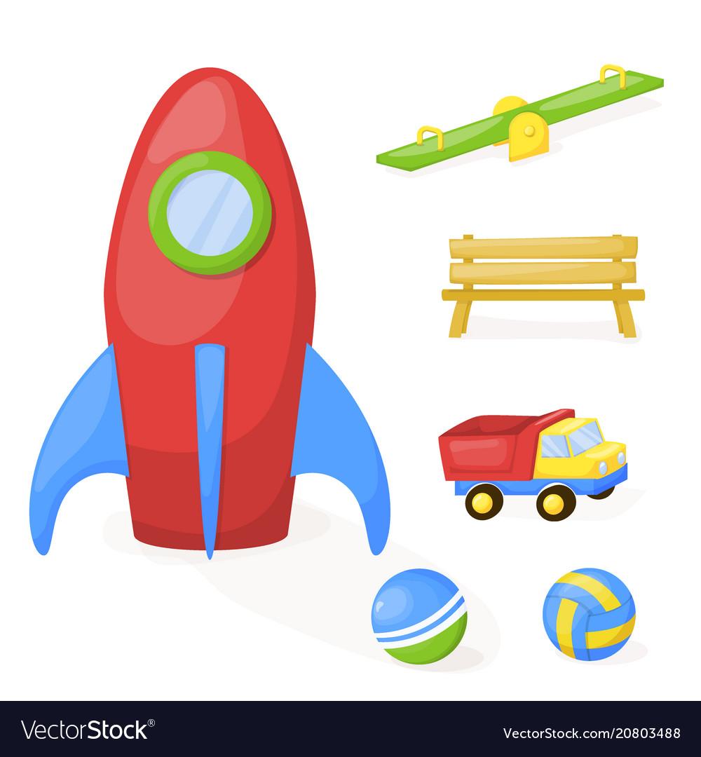 Playground park cartoon fun play kid