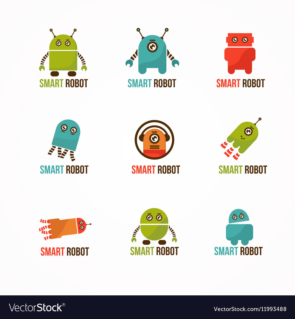 Robots sign vector image