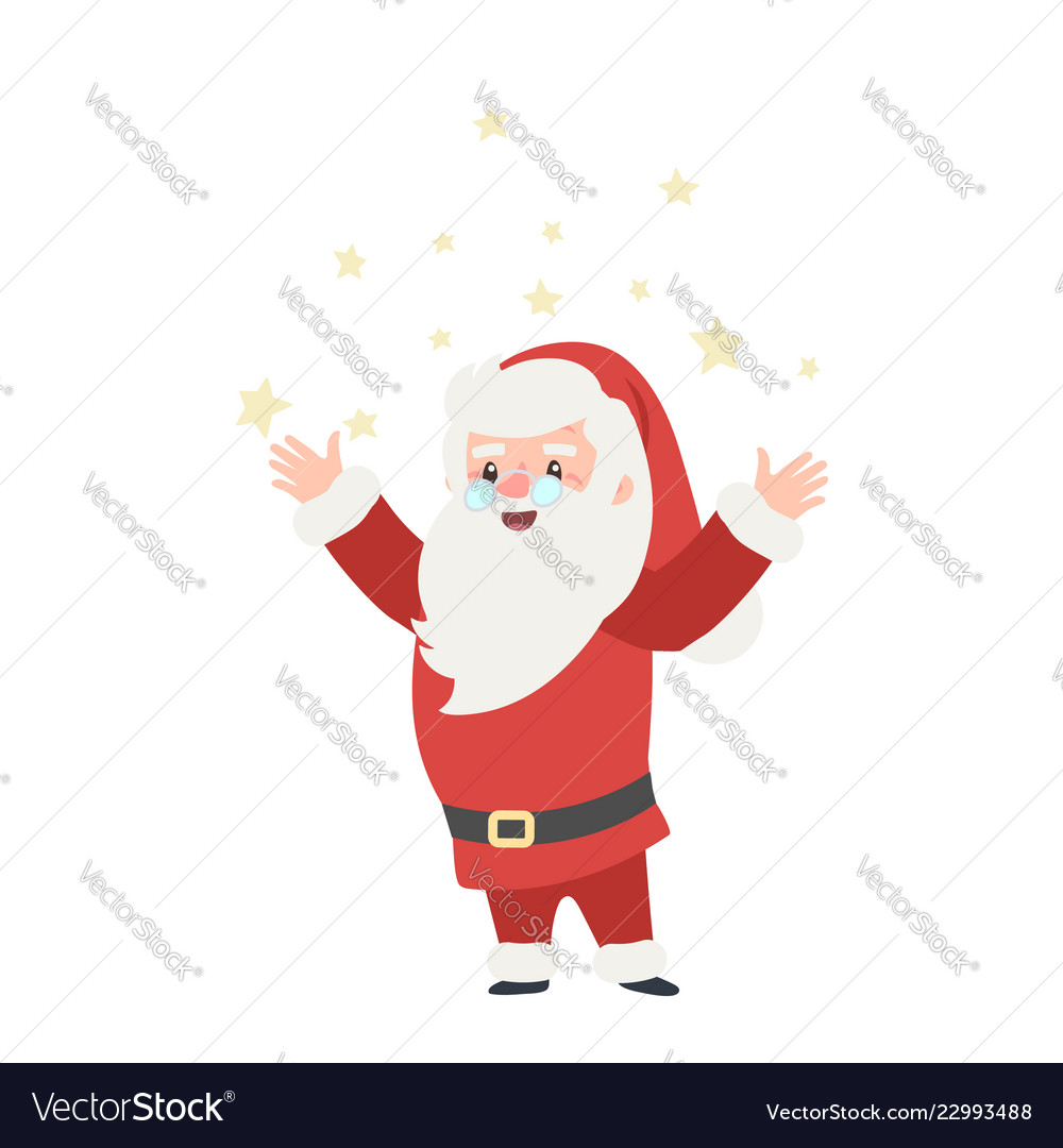 Set of christmas santa claus merry