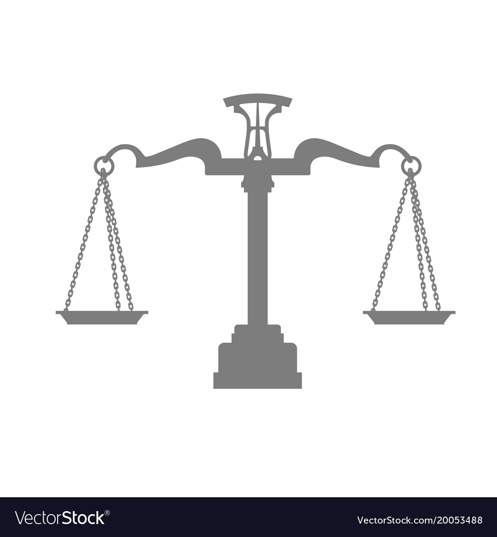 Balance Justice silhouette of scales of justice balance royalty free vector