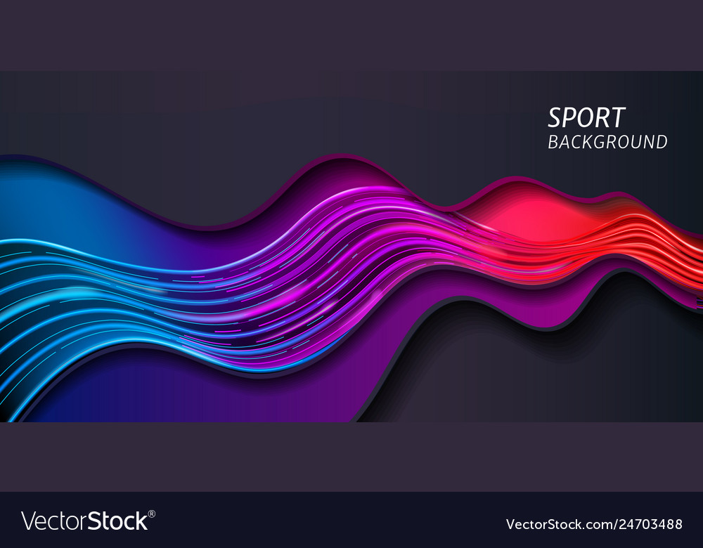 Wave For Sport Background Or Abstract Music Banner