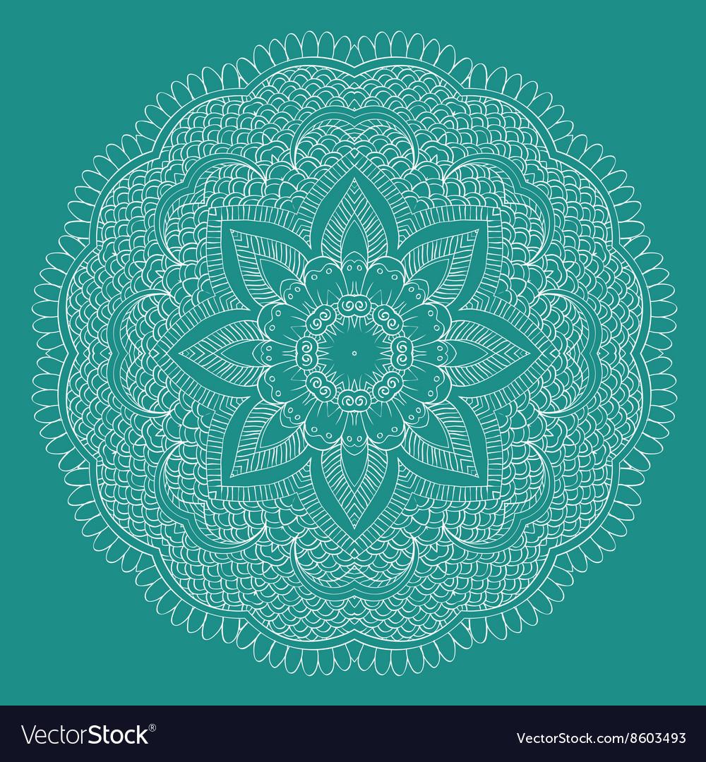 Abstract floral circular mandala