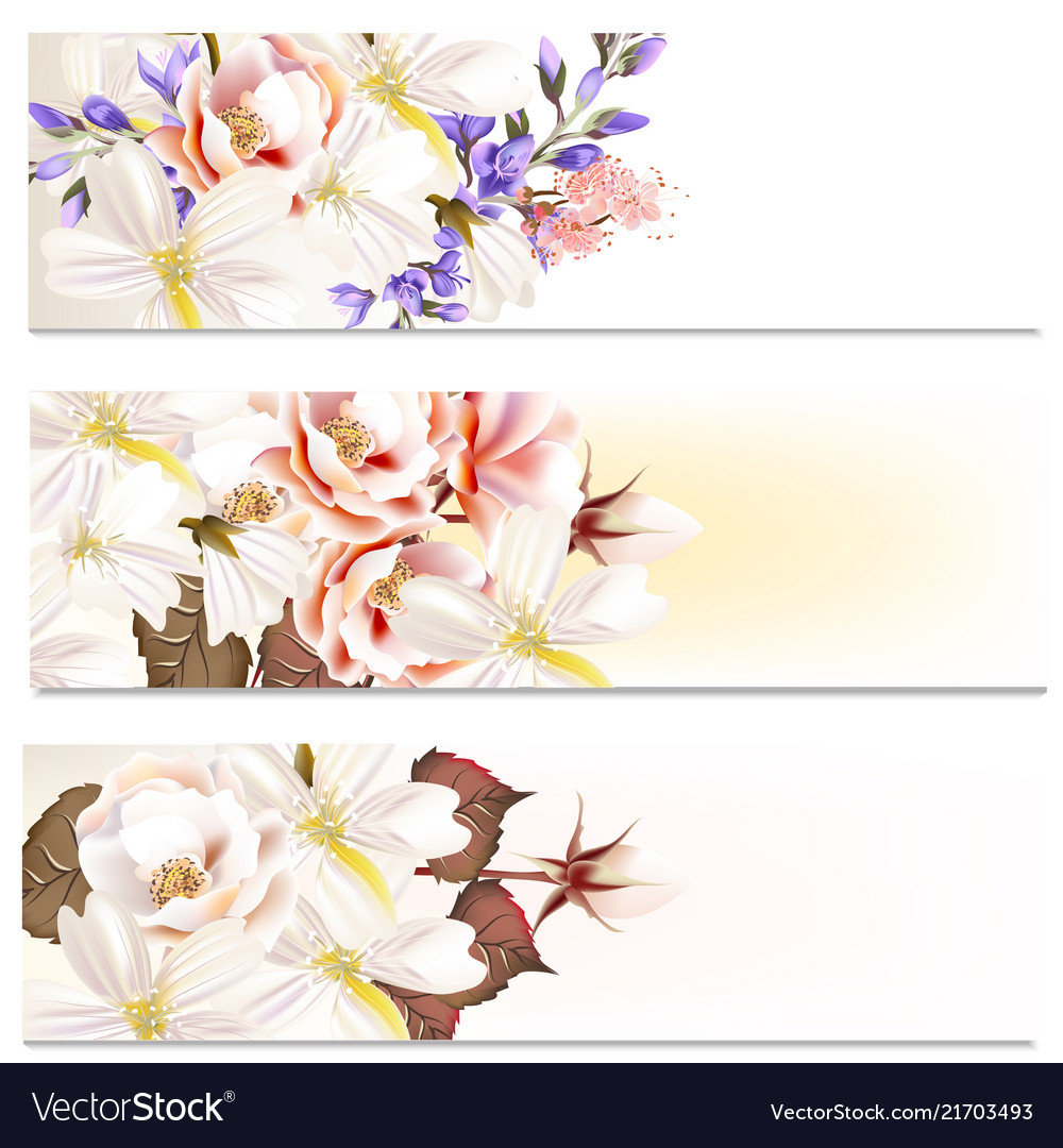 Brochures set with flowers