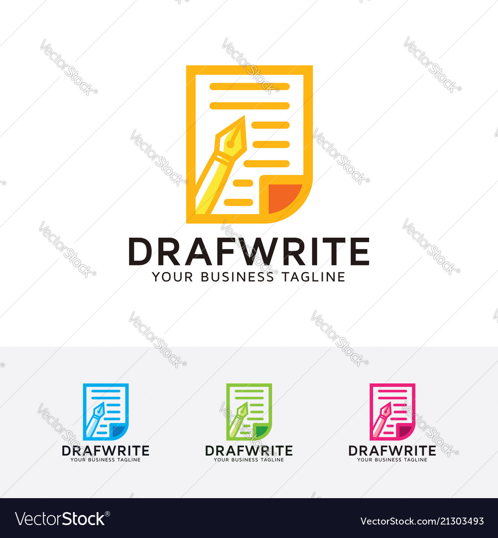 Draft write logo design