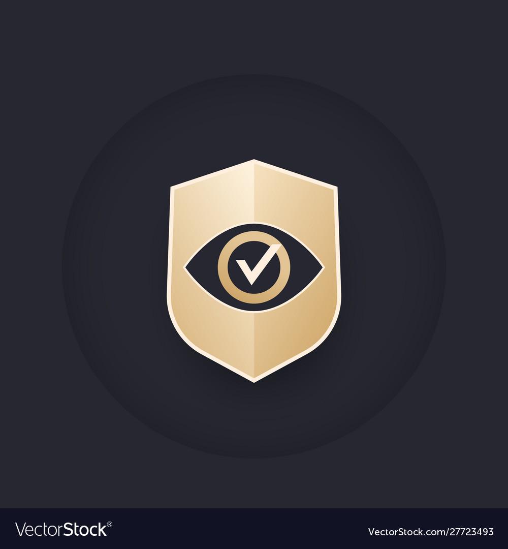 Eye and shield logo design