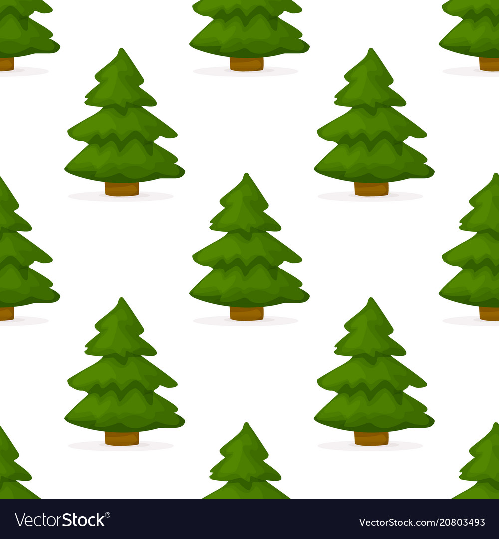 Pine tree forest seamless pattern background