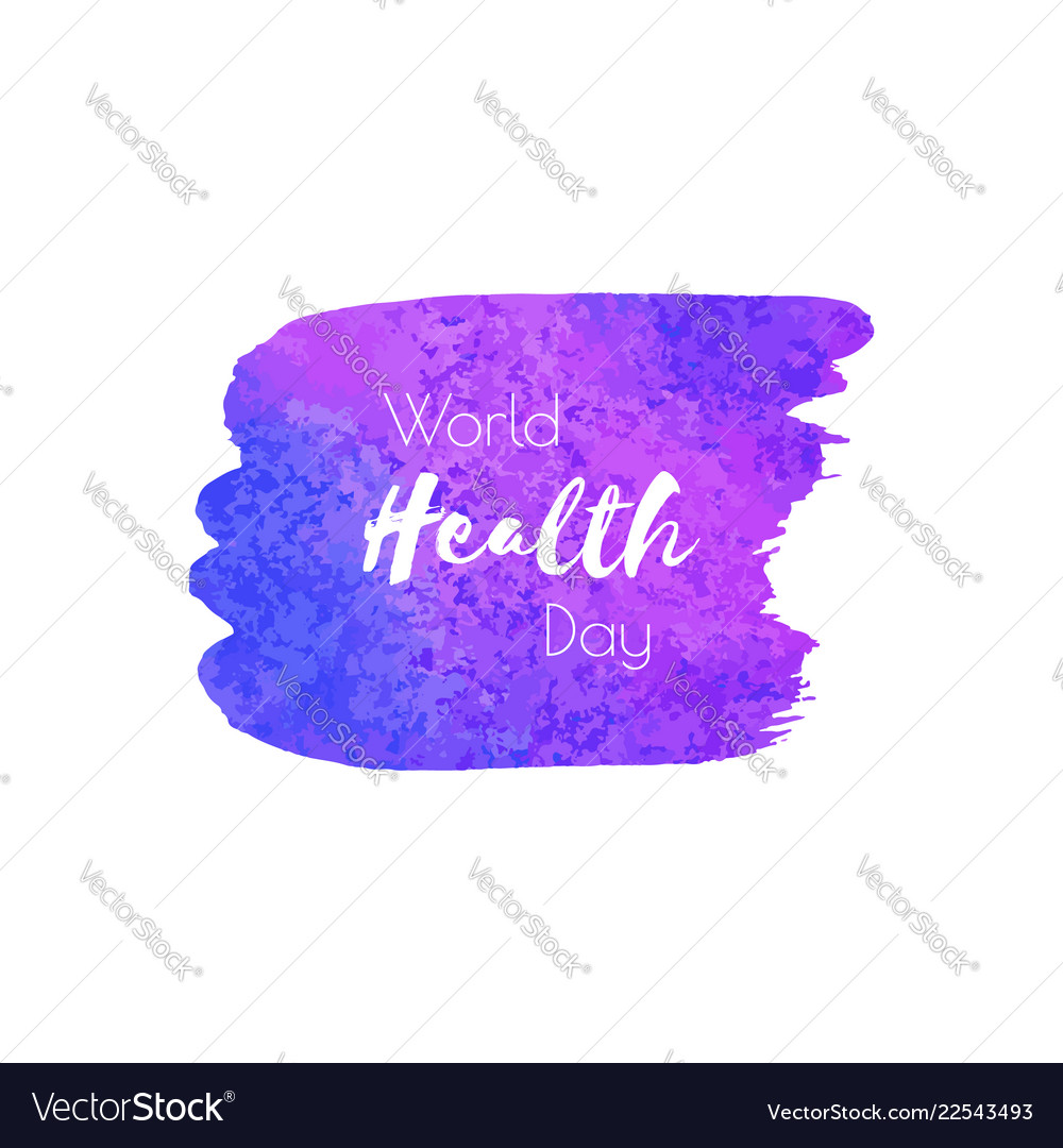 World health day hand paint ultra violet
