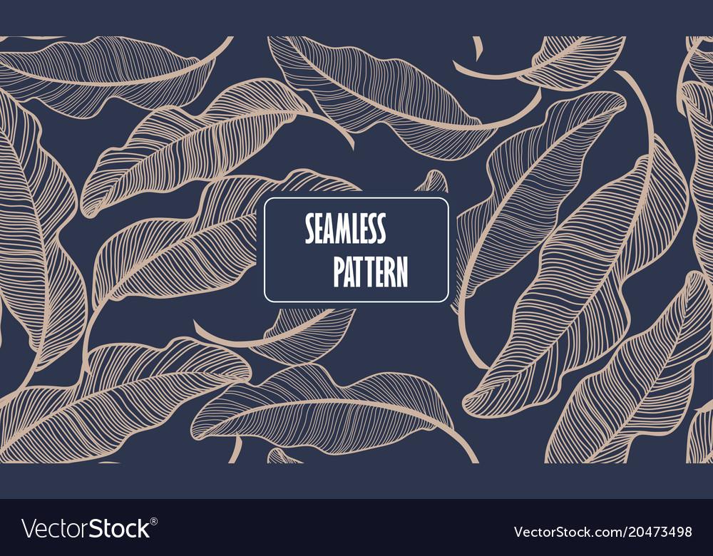 Banana leaves seamless pattern background