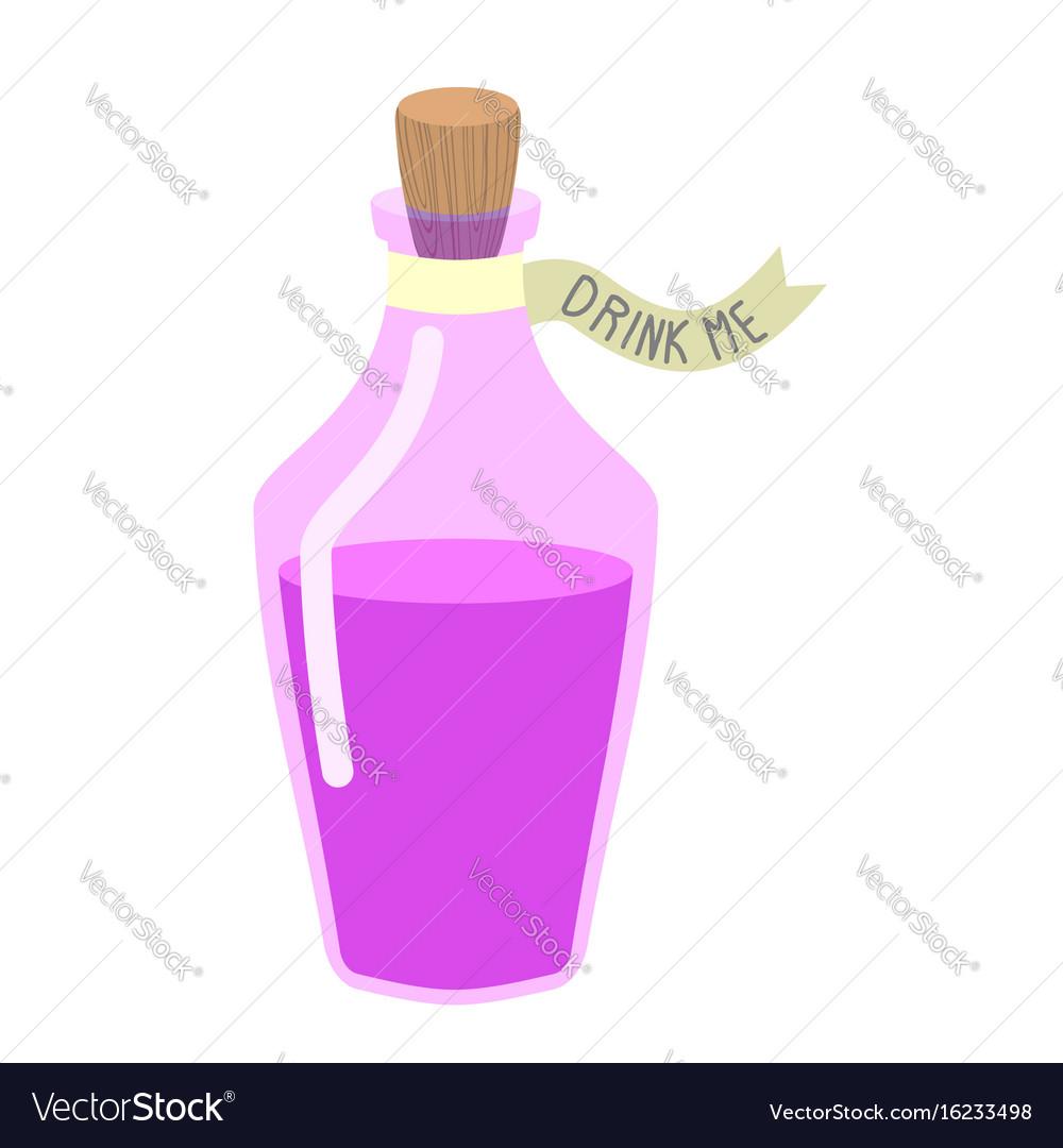 Bottle beverage alice in wonderland