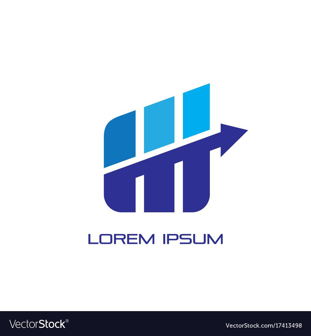 Business progress arrow logo