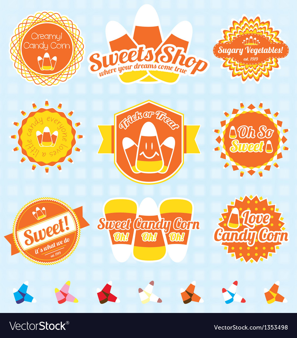 Candy Corn Labels and Icons