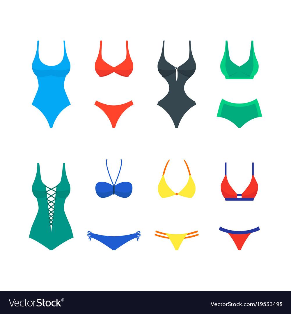 Cartoon color woman swimwear set