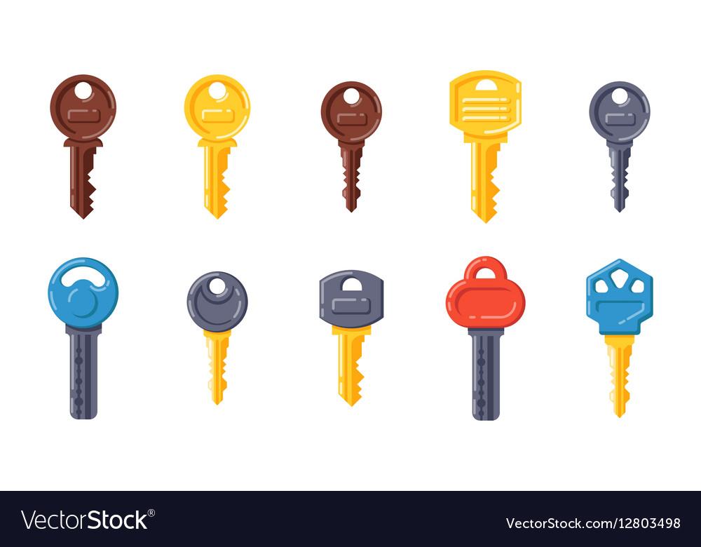 Door security key isolated icon