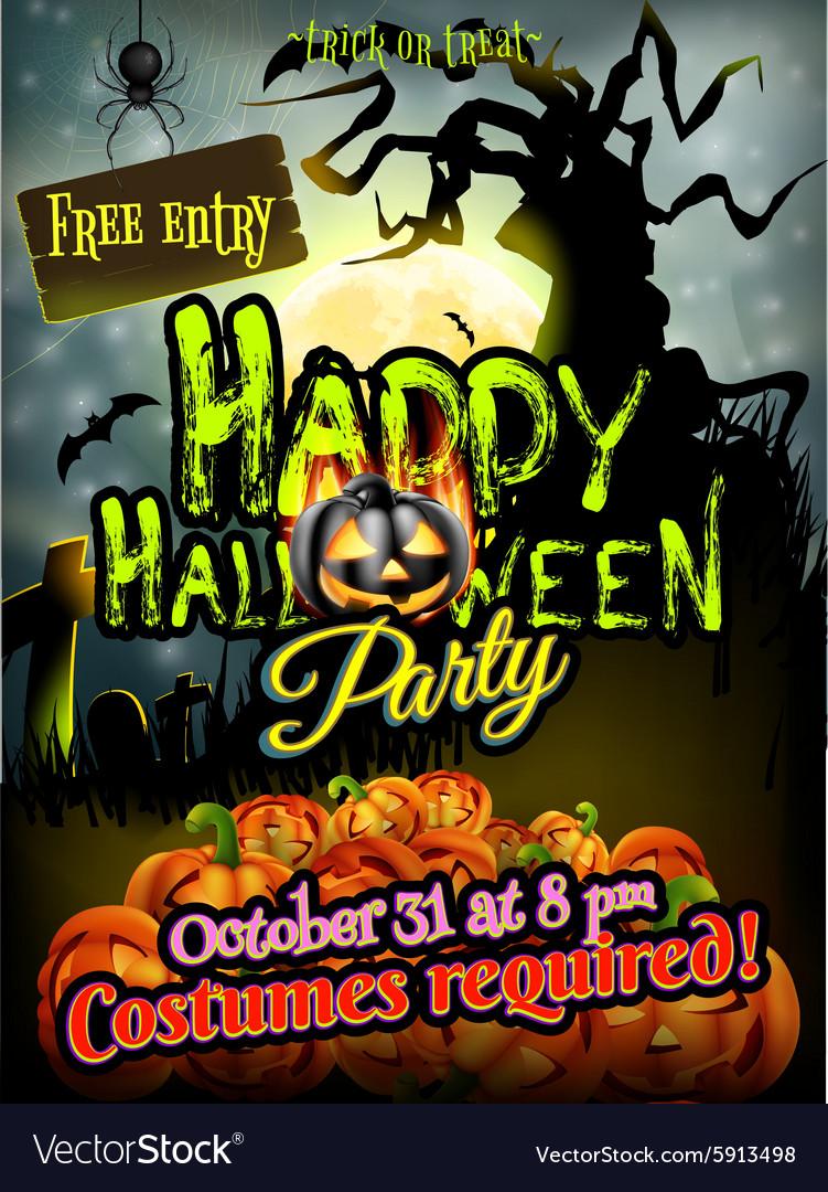 Halloween night background EPS 10
