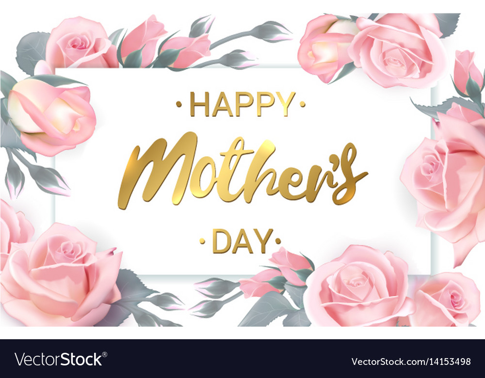 Happy mothers day card with beautiful flowers