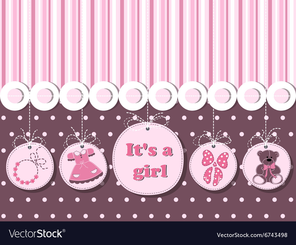 It is a girl card for greeting invitations