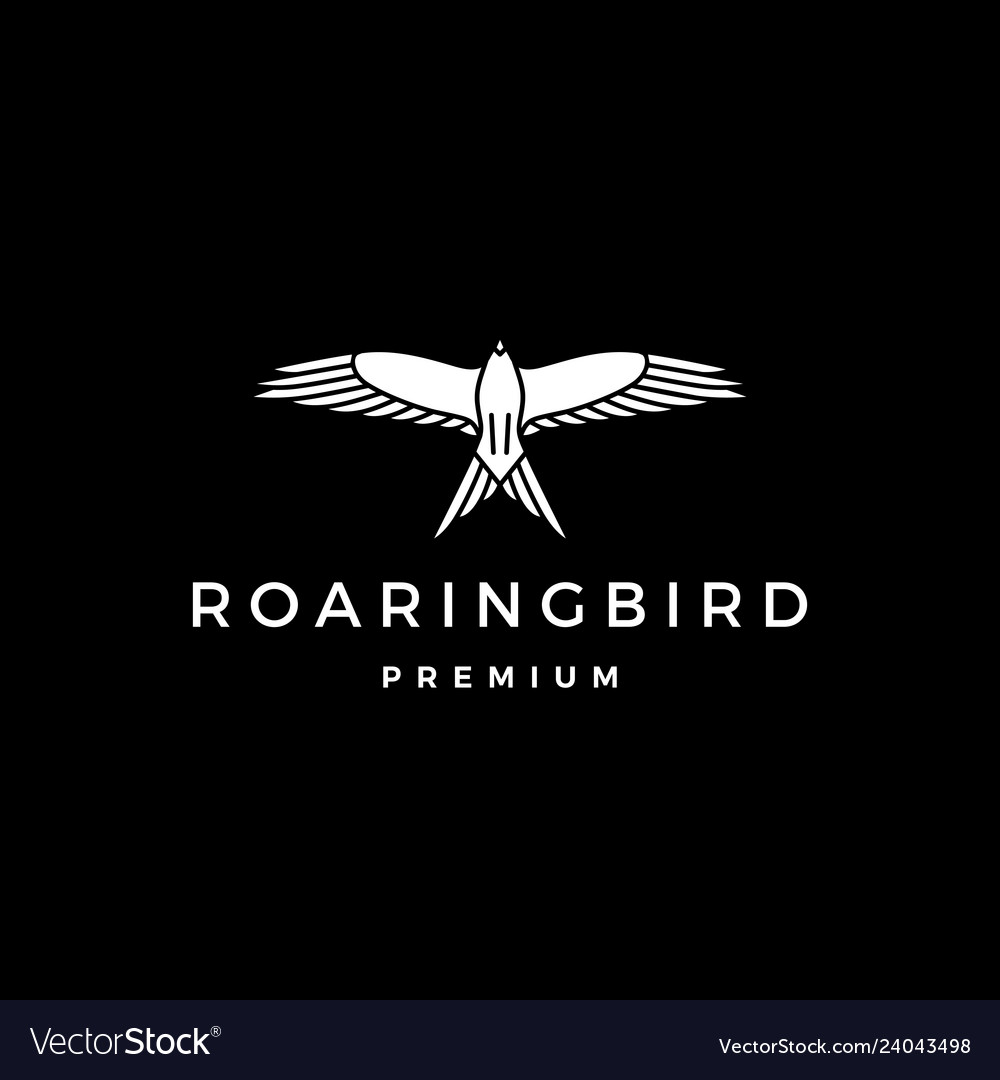Roaring bird logo icon