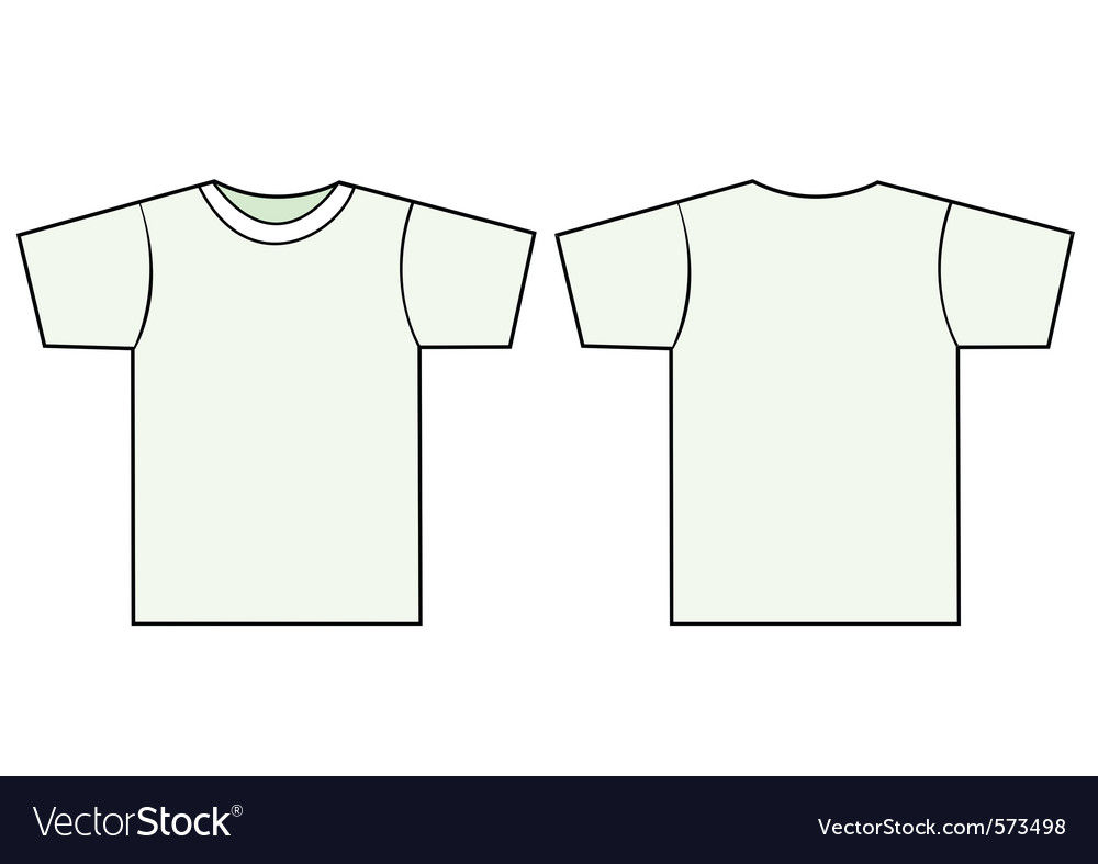 unisex tshirt template royalty free vector image rh vectorstock com T-Shirt Outline Template polo t shirt outline vector